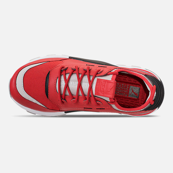 Top view of Men's Puma Evolution RS-0 Sound Casual Shoes in High Risk Red/Grey Violet/Puma Black