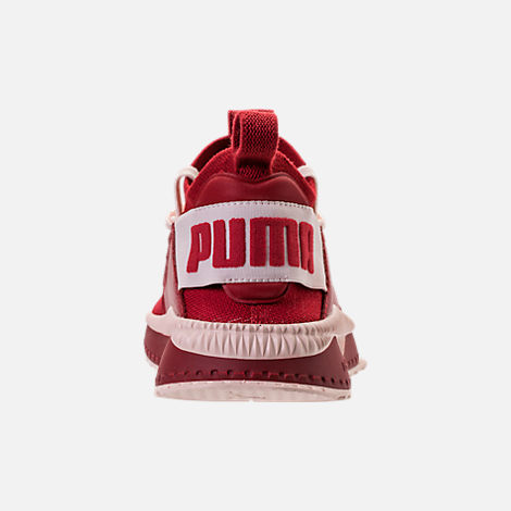 Back view of Women's Puma Tsugi Jun Casual Shoes in Red Dalia/Pink