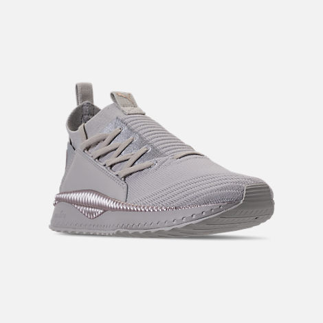 Three Quarter view of Women's Puma Tsugi Jun Metallic Casual Shoes in Puma White