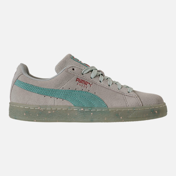 Right view of Women's Puma Suede Classic Glitz Casual Shoes in Blue Flower/Aquifer/Pearl