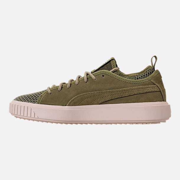 Left view of Men's Puma Breaker Mesh Casual Shoes in Capulet Olive