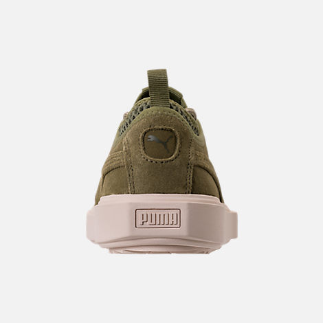 Back view of Men's Puma Breaker Mesh Casual Shoes in Capulet Olive