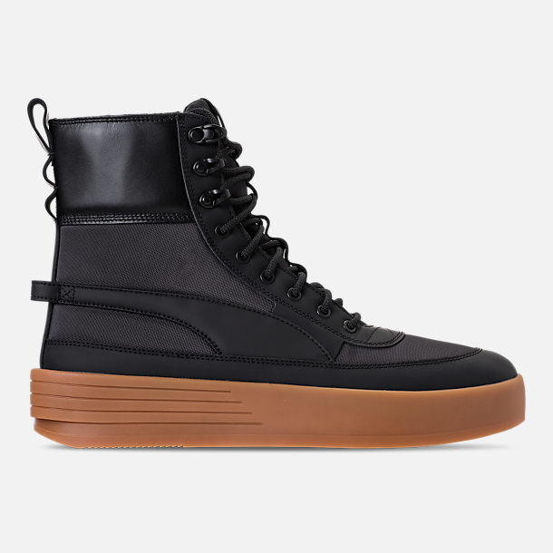 Right view of Men's Puma XO Parallel Tactical Casual Shoes in Black/Gum