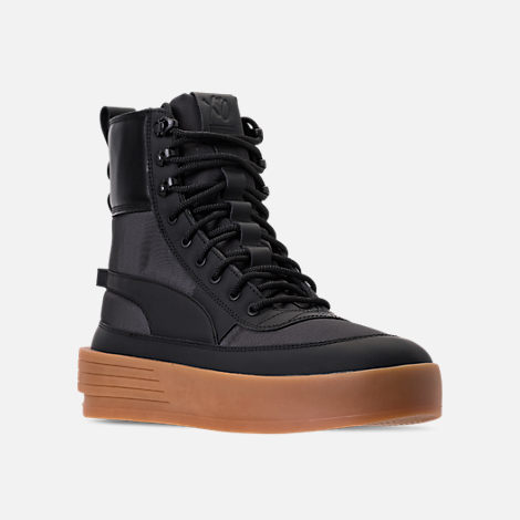 Three Quarter view of Men's Puma XO Parallel Tactical Casual Shoes in Black/Gum