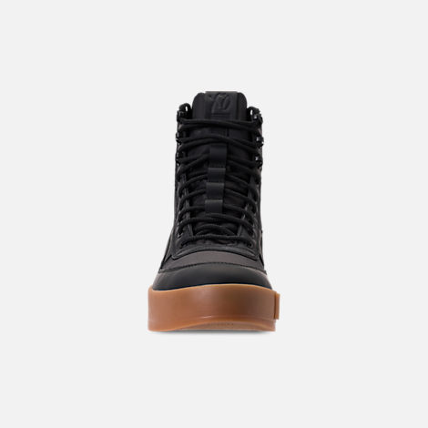 Front view of Men's Puma XO Parallel Tactical Casual Shoes in Black/Gum