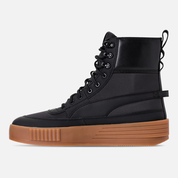Left view of Men's Puma XO Parallel Tactical Casual Shoes in Black/Gum
