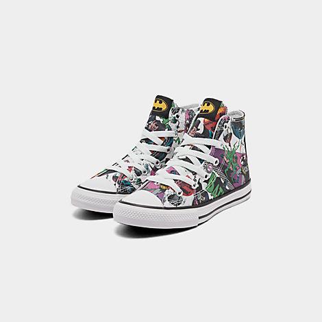 Boys' Little Kids' Converse Chuck Taylor All Star DC Comics Batman High Top Casual Shoes