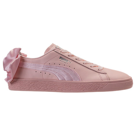 WOMEN'S BASKET BOW CASUAL SHOES, WHITE
