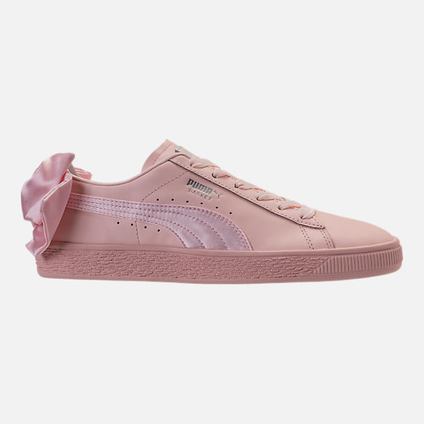 Right view of Women's Puma Basket Bow Casual Shoes in Pearl
