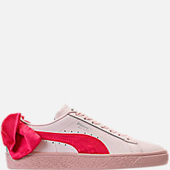 Girls' Little Kids' Puma Basket Bow Hook-and-Loop Casual Shoes