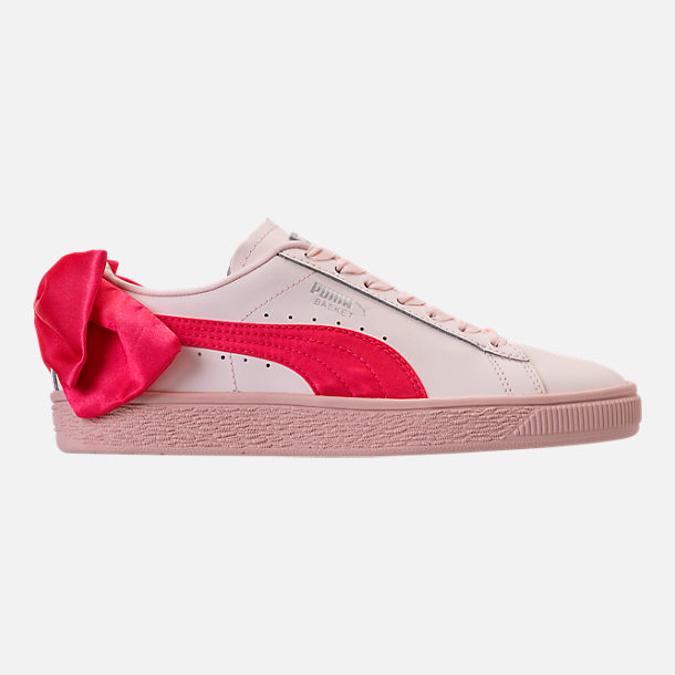 Right view of Girls' Preschool Puma Basket Bow Hook-and-Loop Casual Shoes in Paradise Pink/Paradise Pink