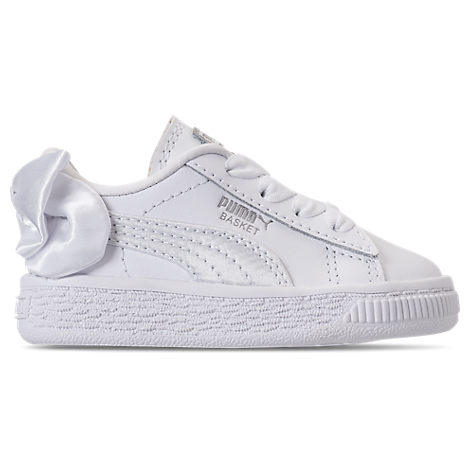 Puma Girls  Toddler Basket Bow Casual Shoes 4ed1142a0