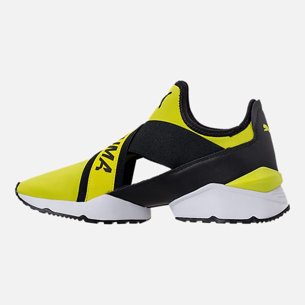 Left view of Women's Puma Muse Cutout Casual Shoes in Sulphur Spring