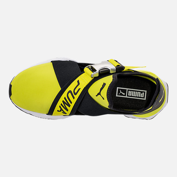 Top view of Women's Puma Muse Cutout Casual Shoes in Sulphur Spring