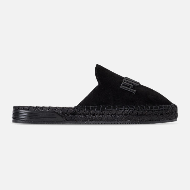 Right view of Women's Puma Fenty x Rihanna Espadrille Casual Shoes in Puma Black/Puma Black/Puma Black