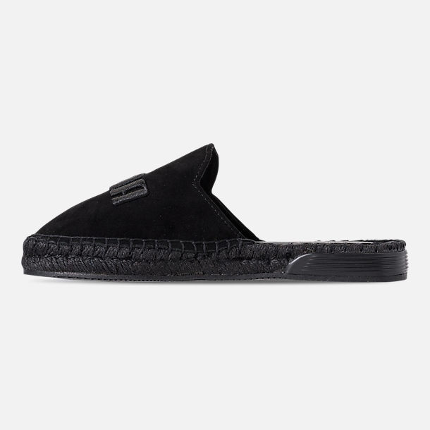 Left view of Women's Puma Fenty x Rihanna Espadrille Casual Shoes in Puma Black/Puma Black/Puma Black