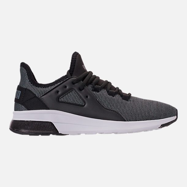 d27e335d56e23b Right view of Men s Puma Electron Street Knit Trainer Casual Shoes in Puma  Black Iron