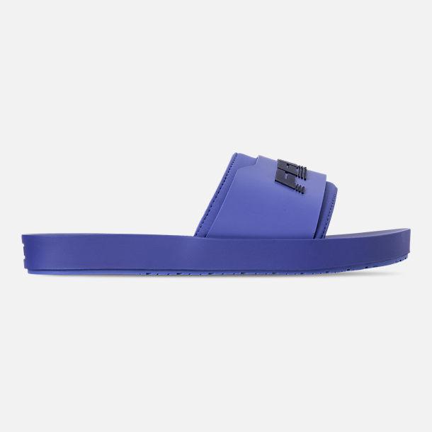 Right view of Women s Puma Fenty x Rihanna Surf Slide Sandals in Dazzling  Blue Evening ae2508707d