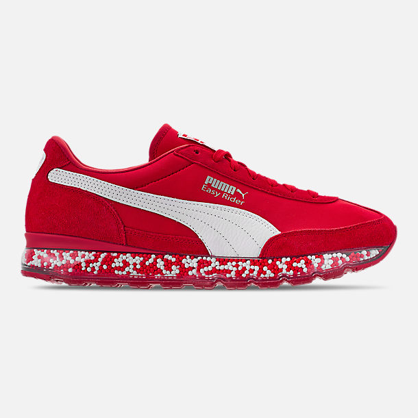 Right view of Men's Puma Jamming Easy Rider Casual Shoes in Ribbon Red/Puma White