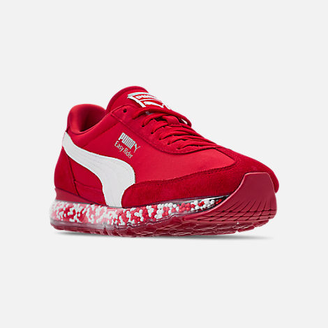 Three Quarter view of Men's Puma Jamming Easy Rider Casual Shoes in Ribbon Red/Puma White