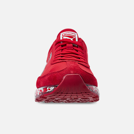 Front view of Men's Puma Jamming Easy Rider Casual Shoes in Ribbon Red/Puma White