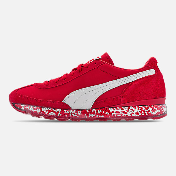 Left view of Men's Puma Jamming Easy Rider Casual Shoes in Ribbon Red/Puma White