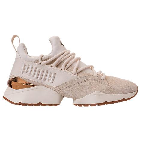 Women'S Muse Maia Varsity Casual Shoes, White/Brown, Whisper White-Metallic Bronze
