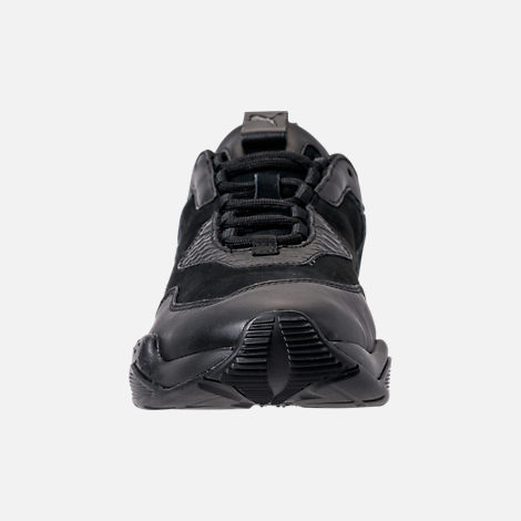 Front view of Men's Puma Thunder Desert Casual Shoes in Puma Black