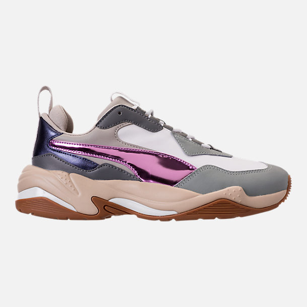 Right view of Women's Puma Thunder Electric Casual Shoes in Quarry/Pink Lavendar