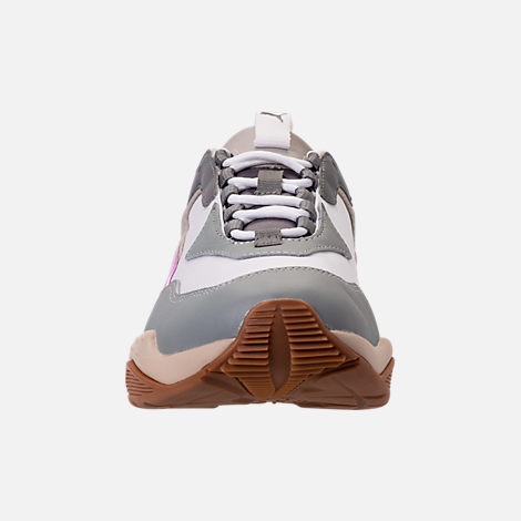 Front view of Women's Puma Thunder Electric Casual Shoes in Quarry/Pink Lavendar