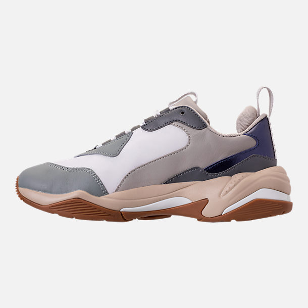 Left view of Women's Puma Thunder Electric Casual Shoes in Quarry/Pink Lavendar
