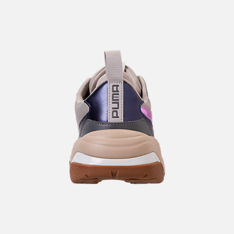Back view of Women's Puma Thunder Electric Casual Shoes in Quarry/Pink Lavendar