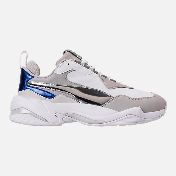 Right view of Women's Puma Thunder Electric Casual Shoes in Puma White/Grey Violet