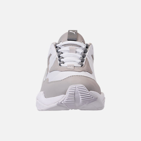 Front view of Women's Puma Thunder Electric Casual Shoes in Puma White/Grey Violet