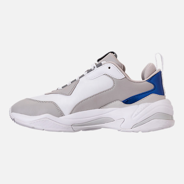 Left view of Women's Puma Thunder Electric Casual Shoes in Puma White/Grey Violet