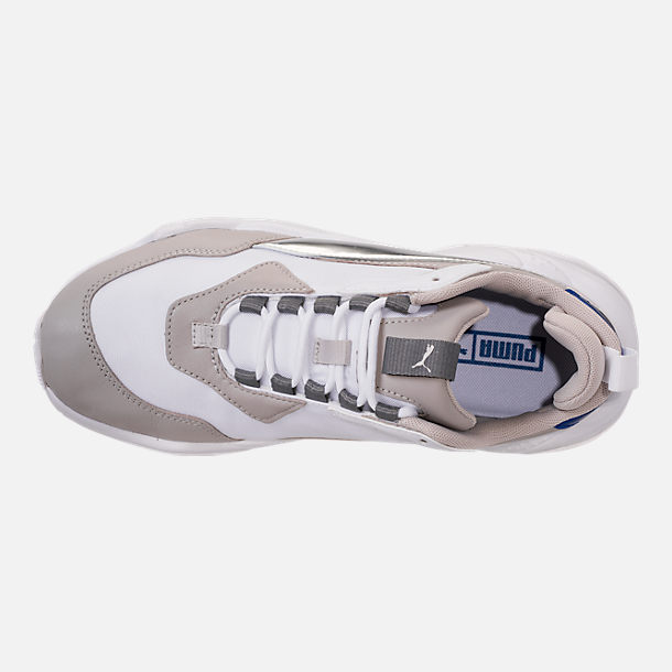 Top view of Women's Puma Thunder Electric Casual Shoes in Puma White/Grey Violet