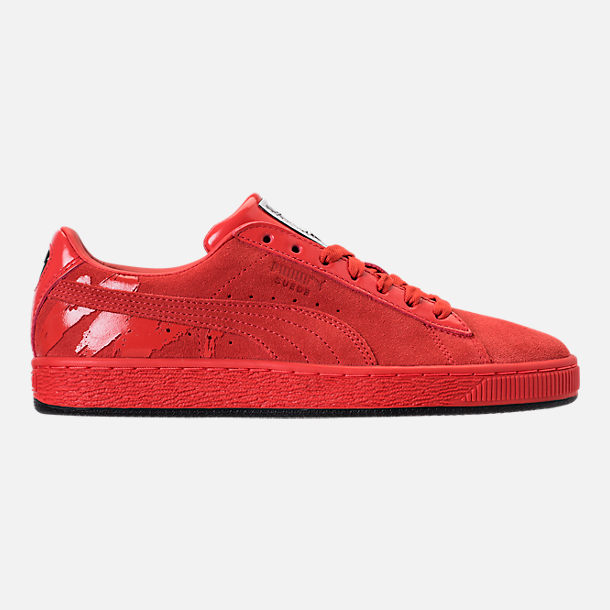 Right view of Women's Puma Suede Classic x Mac Two Casual Shoes in Fiery Red/Fiery Red
