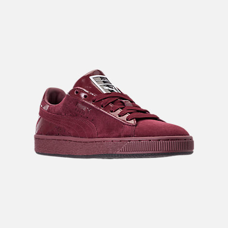 Three Quarter view of Women's Puma Suede Classic x Mac Three Casual Shoes in Port Royale/Port Royale
