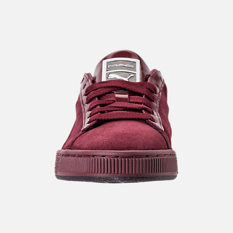 Front view of Women s Puma Suede Classic x Mac Three Casual Shoes in Port  Royale  ba3631700