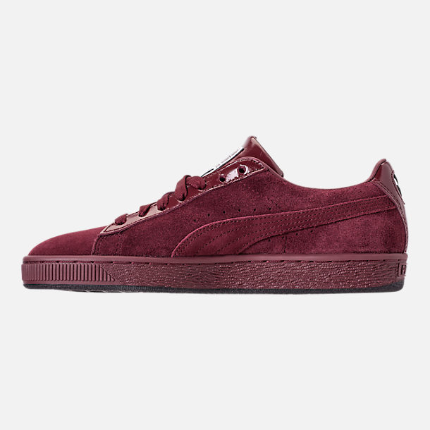 Left view of Women's Puma Suede Classic x Mac Three Casual Shoes in Port Royale/Port Royale