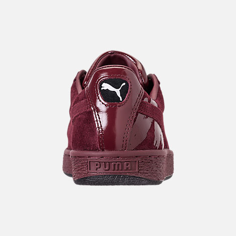 Back view of Women's Puma Suede Classic x Mac Three Casual Shoes in Port Royale/Port Royale