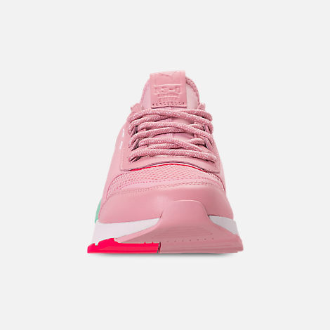 Front view of Women's Puma RS-0 Play Casual Shoes in Orchid/Biscay Green/Pink/White