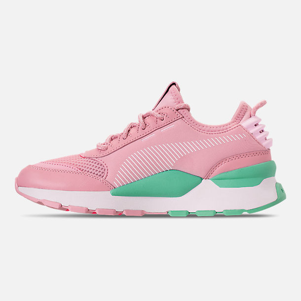 Left view of Women's Puma RS-0 Play Casual Shoes in Orchid/Biscay Green/Pink/White
