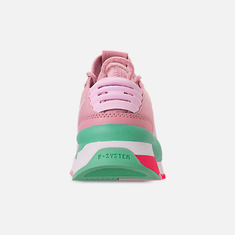 Back view of Women's Puma RS-0 Play Casual Shoes in Orchid/Biscay Green/Pink/White