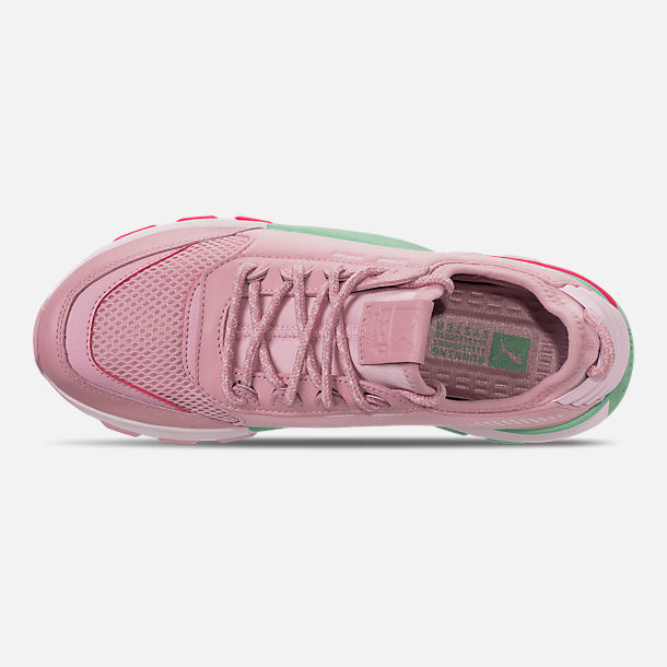 Top view of Women's Puma RS-0 Play Casual Shoes in Orchid/Biscay Green/Pink/White