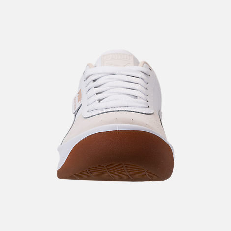 Front view of Women's Puma California Casual Shoes in Whisper White/Puma White