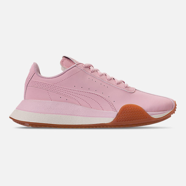 Right view of Boys' Big Kids' Puma Turin Futuro Nubuck Jr. Casual Shoes in Windchime Orchid