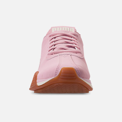 Front view of Boys' Big Kids' Puma Turin Futuro Nubuck Jr. Casual Shoes in Windchime Orchid