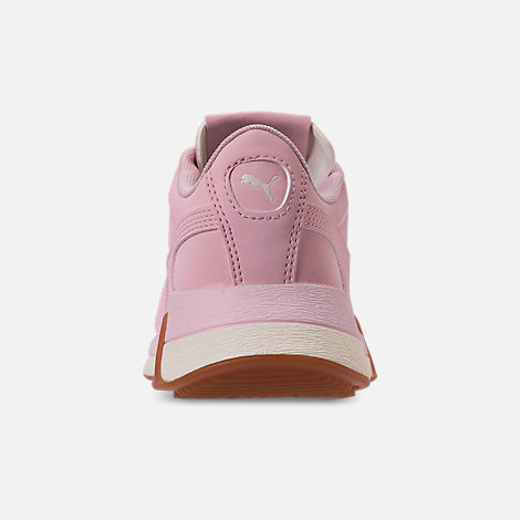 Back view of Boys' Big Kids' Puma Turin Futuro Nubuck Jr. Casual Shoes in Windchime Orchid