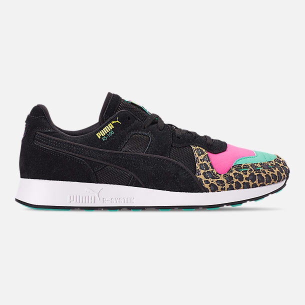 Right view of Men s Puma RS-100 Animal Print Casual Shoes in Multi Cheetah 9dbd6dc0766e